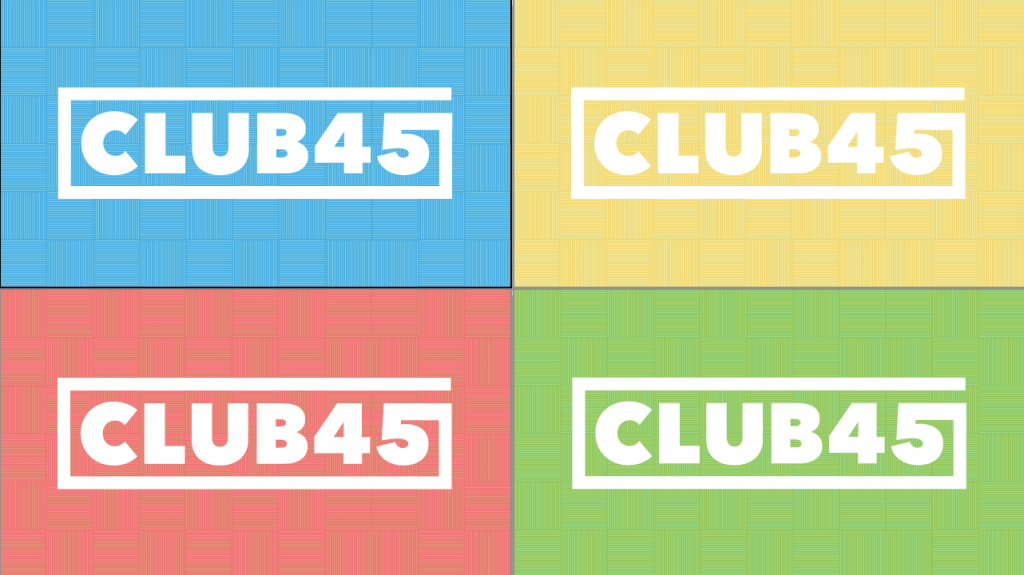 Club45 Logo Sketchups